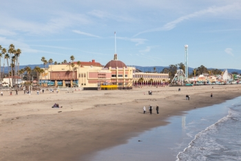 Santa Cruz Beach Boardwalk and Roller Coaster