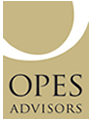 OPES Logo, gold with black text.