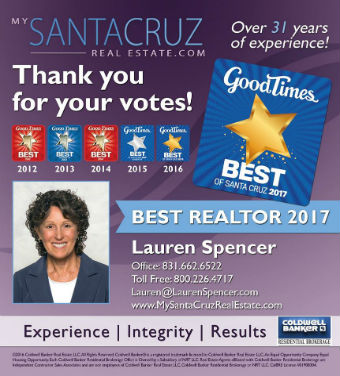 Best Santa Cruz Realtor - 2017