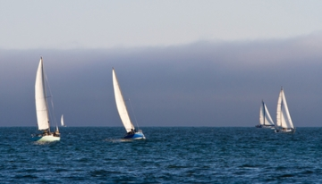 Sailing Near Live Oak, CA